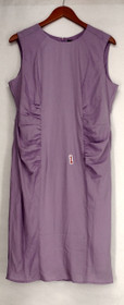 Hal Rubenstein Dress XS Sleeveless Back Zippered + Ruched Sides Purple 461-285