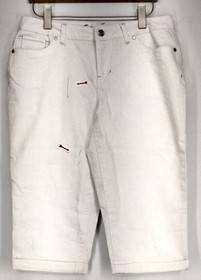 Oso Size 12 Five Pocket Style Studded Detail White Jeans Womens