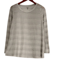 Style & Co. Top Sz XS Printed High Low Top Radiant Joy Light Gray Womens