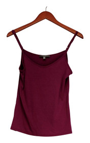 NY Collection Top Sz S Adjustable Strap Basic Camisole Berry Pink Womens