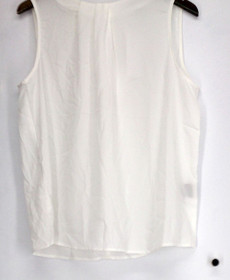 Hal Rubenstein Top Sz 14 The Golden Shell Top Ivory Womens 440-936