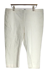 Attention Sz 18 Skinny Leg Front Zippered Pocketed White Pants Womens