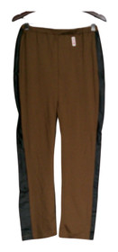 Slinky Brand Size S Ponte W/Faux Leather Pull On Brown Pants Womens 367-544