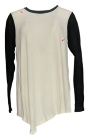 Serena Williams Size L Long Sleeves Colorblock Sweater Ivory Womens 365-680