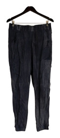 Holly Robinson Peete Sz M Pull On Woven Elastic Waist Jogger Pants Blue A432829