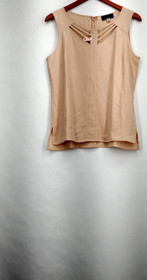 SA by Seth Aaron Top Sz 10 Sleeveless w/ Cut Out Detail Blush Pink A265206