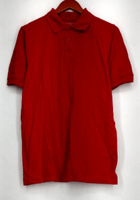 Authentic Galaxy Size S Men's Short Sleeve Pique Polo Red