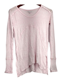 Grayson/Threads Size XS Long Sleeve Textured Knit Sleep Shirt Pink Womens