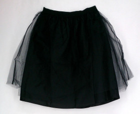Issac Mizrahi Live! Skirt Sz XS Double Layer Tulle Party Black A213379