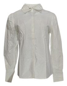 Elisabeth Hasselbeck for Dialogue Size 6 Button Front Shirt White A89248