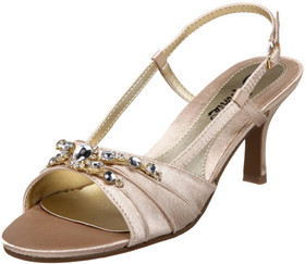 Annie Shoes Womens Size 6.5 Medium (B M) Lola Satin Slingback Gold Sandals