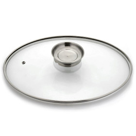 Cook's Companion Oval Glass Basting Lid w/ Air Vent Hole