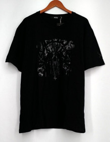 Age G Plus Size Top 5XL Embellished Short Sleeve Tee Black Womens