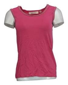 Davies by Erica Davies Size XXS Embellished Knit Top Berry Pink A201642
