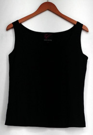 Carson Kressley Camisole Sz M Chiffon Pull Over Tank Top Black Womens A410275