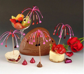 Fluttering Hearts Party Picks Hors D'oeuvre Toothpick Set (12 count) H136819