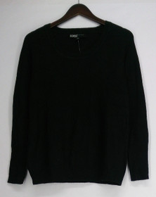 Edge by Jen Rade Sweater Sz XS Waffle Stitch Black A256532