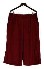 MERONA Sz 14 Wide Leg Front Zippered Pocketed True Red Pants Womens