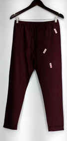 WD NY Leggings Sz M Leather Look Fabric Burgundy Red