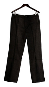 Notte Pants Size 12 Fly Front Woven Trouser Dark Brown