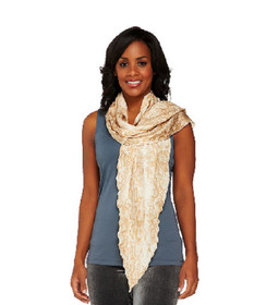 VT Luxe One Size Fits Most Animal Printed Wrap Beige Scarf A223675