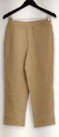 Bob Mackie Pants Sz XXS Pull-On Knit Crop w/ Seam Detail Beige A276146