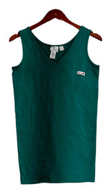 Woman with Control Top Sz S Sleeveless V-Neck Long Lean Green A295544