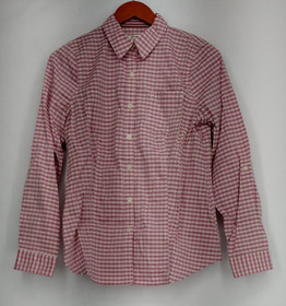 liz Claiborne Top Size XS Collared Button Front Shirt Plaid Pink