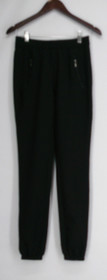 Serena Williams Pants XS Zipper Accent Relaxed Pant Midnight Black  437-663