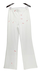 Liz Claiborne New York Pants Sz 4 Regular Ponte Knit Flare White A272822
