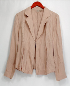 Kelly by Clinton Kelly Blazer 14 Draped Front Jacket Soft Blush Pink A252792