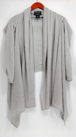 Layers by Lizden Sweater Sz M/L Whisperlush Open Front Dove Gray A271930
