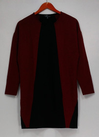 GK George Kotsiopoulos Dress XS 3/4 Sleeve Color-Blocked + Pockets Black A267497