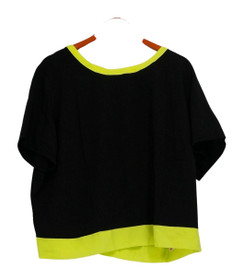 View by Walter Baker Plus Size Top 20W Short Sleeve Woven Tunic Black A263077