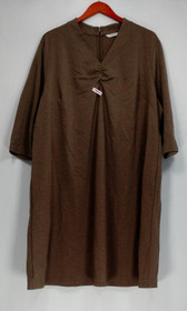 Liz Claiborne New York Petite Dress 28 Essentials Ponte Knit Light Brown A256389