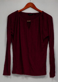 CE by Cristina Ehrlich Women's Top Sz S Knit with Keyhole Berry Red A235868