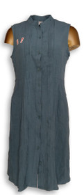 North Style Dress Sz S Tunic with Buttoned Front Knee Length Blue