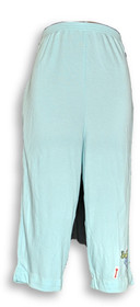 PFI Fashion Inc. Women's Pants Sz L Capri Length Baby Blue