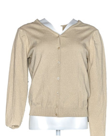 Talbots Women's Sweater Sz M Long Sleeve Button Down Cardigan Gold