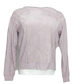 Hippie Rose Women's Sz Top S Velour With Knit Sleeves Light Purple