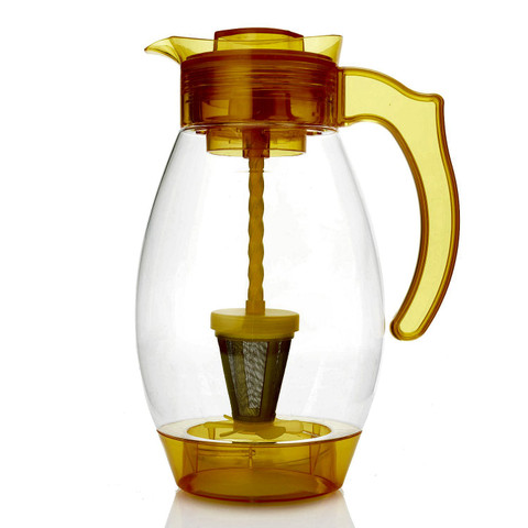 Cook's Companion 4-in-1 Chill Mix Infuse & Filter 3QT Pitcher Yellow