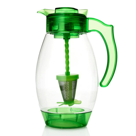 Cook's Companion 4-in-1 Chill Mix Infuse & Filter 3QT Pitcher Mojito Green