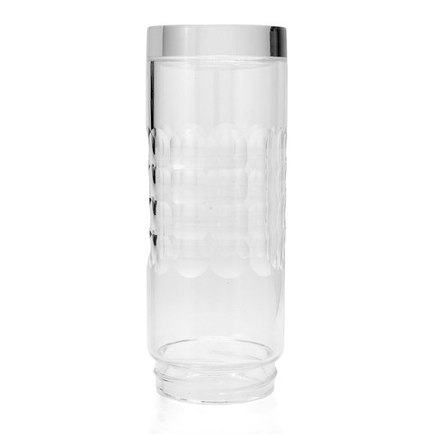 Cook's Companion 14oz Glass Ionizer Water Replacement Bottle Optic Cut B416124