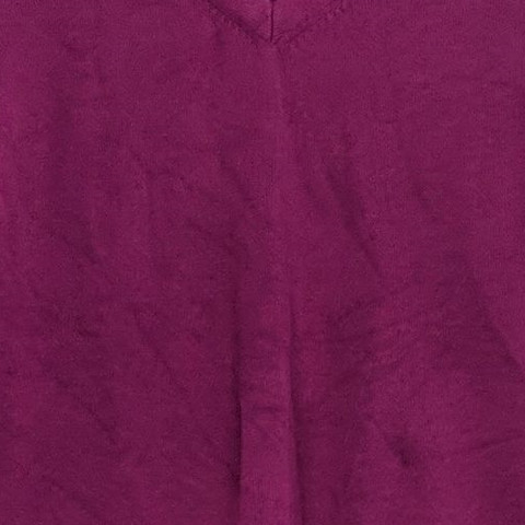 Isaac Mizrahi Live! Women's Sweater Sz XS Elbow Sleeve Cross-Neck Purple A305210
