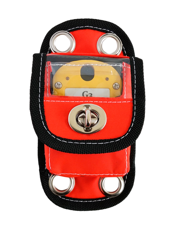 The Westhold Vertical Mounting Pouch allows you to mount your transponder to the frame of your car in an upright position. It is most appropriate for G3 transponders (yellow), Activated-CAR transponders (green), and Activated-KART transponders (blue). Large grommet holes allow you to zip-tie the (Zip ties not included) case to the underside of the car. There is a clear plastic window where the indicator lights can be seen.