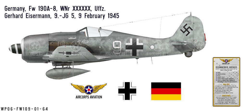 Fw 190A-8 Decorative Vinyl Decal