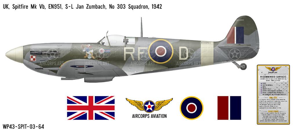 Spitfire Mk Vb Decorative Vinyl Decal
