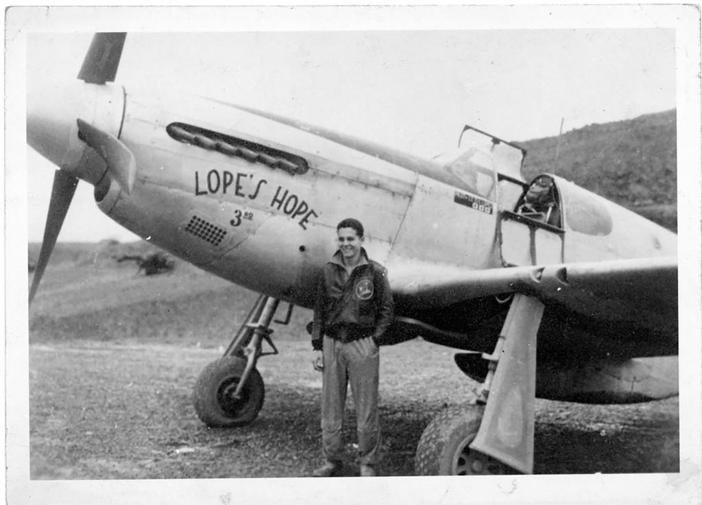 "P-51C Mustang ""Lopes Hope"" Military Aircraft Profile Print Wall Art Decal"
