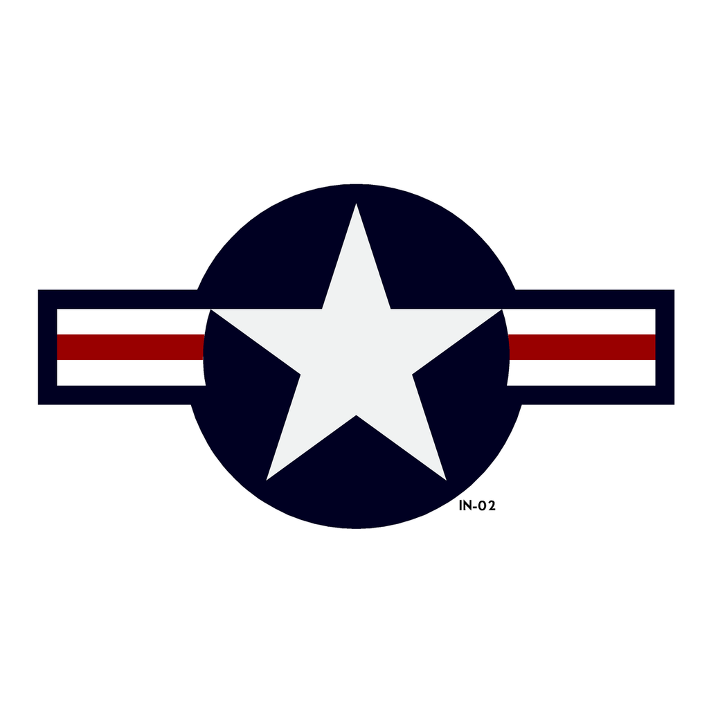 USAF National Star and Bars Insignia - AN-I-9b (Amend #2) - Decal or Paint Mask