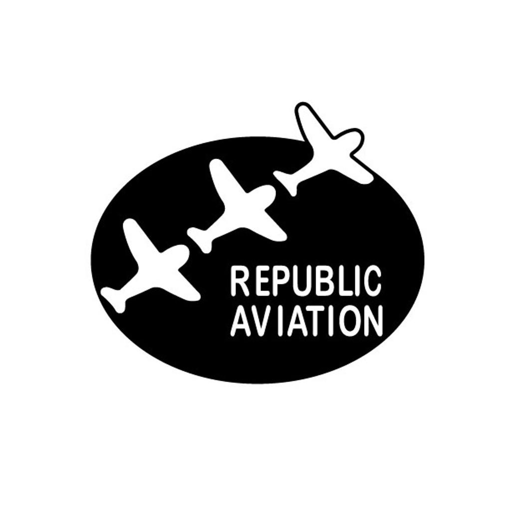 Republic Aviation Die Cut Logo Decal